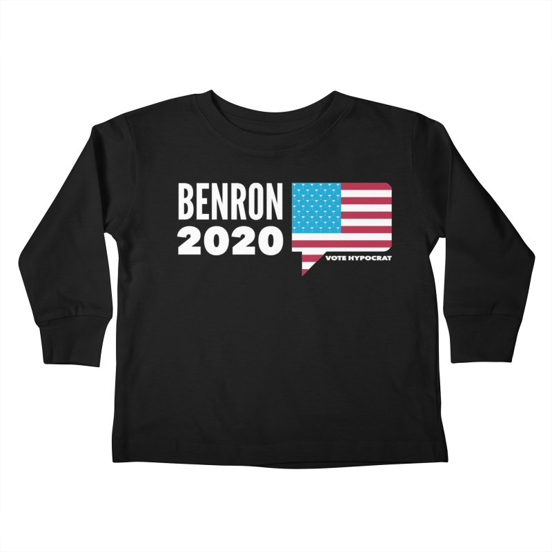 BenRon 2020 Vote Hypocrat Limited Kids Toddler Longsleeve T-Shirt by Watch What Crappens