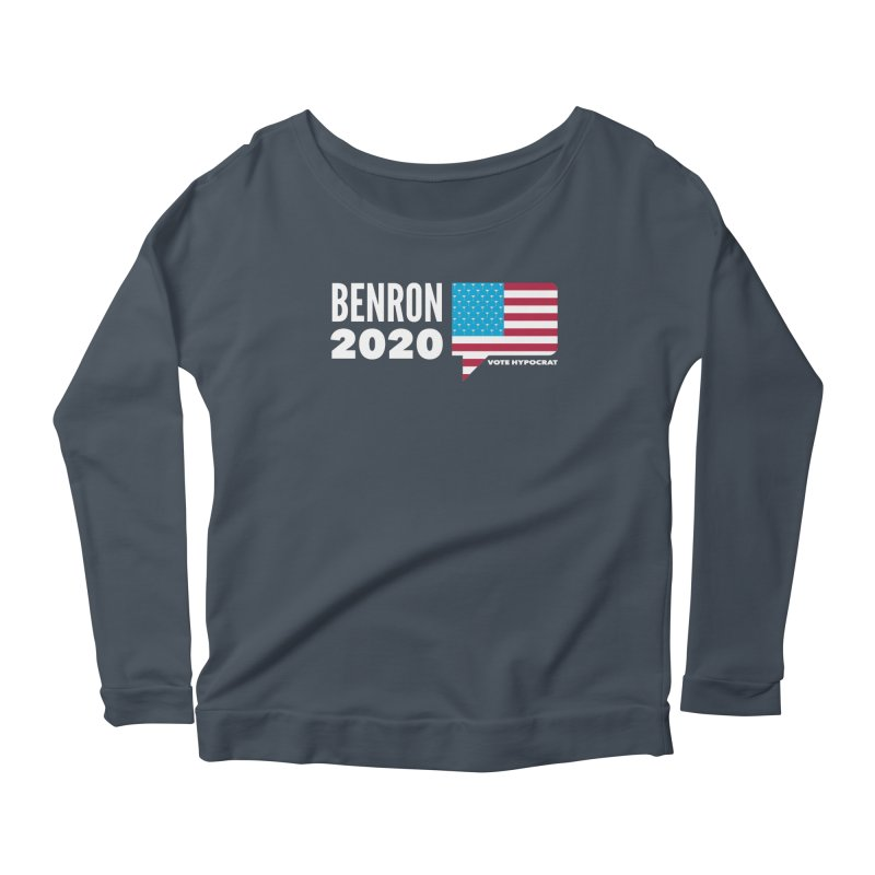 BenRon 2020 Vote Hypocrat Limited Women's Scoop Neck Longsleeve T-Shirt by Watch What Crappens