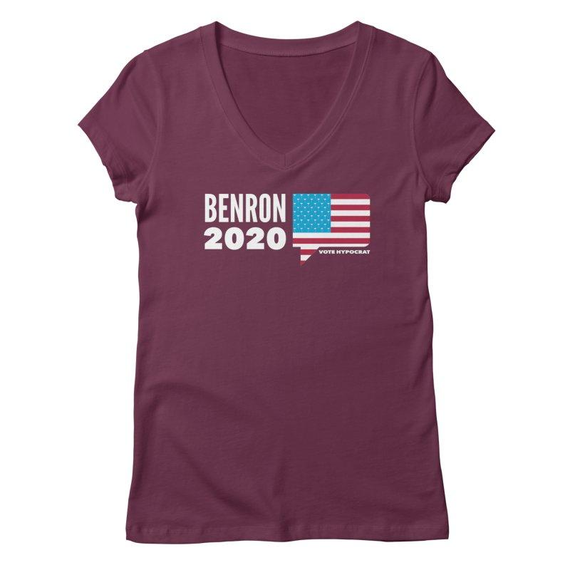 BenRon 2020 Vote Hypocrat Limited Women's Regular V-Neck by Watch What Crappens