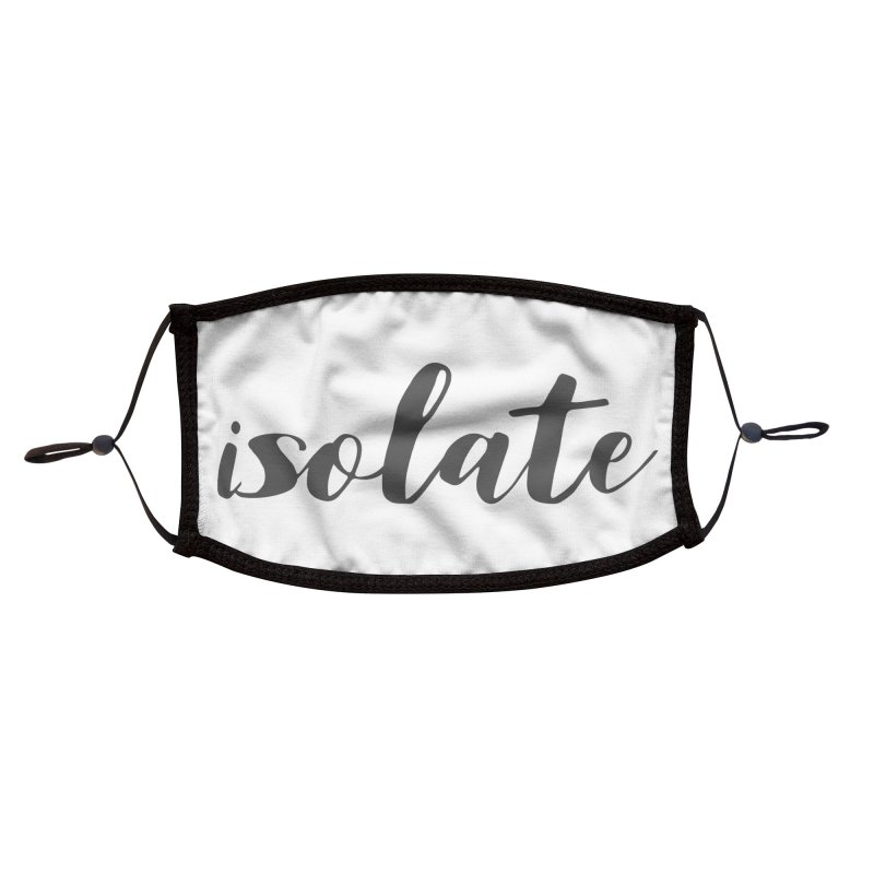 isolate Limited Accessories Face Mask by Watch What Crappens