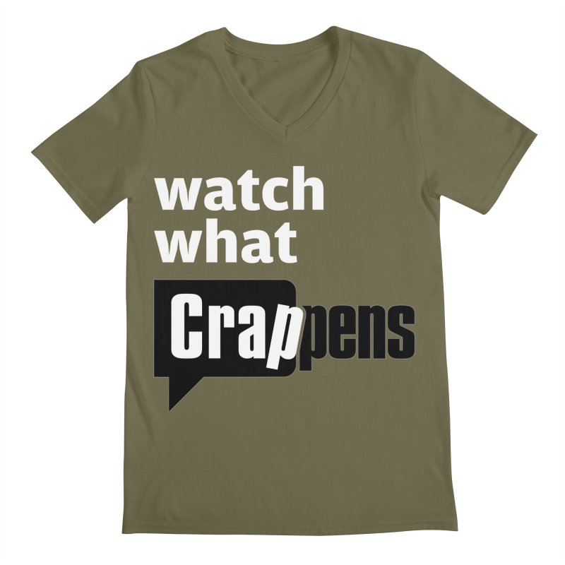 Crappens Shirts and Clothes Men's Regular V-Neck by Watch What Crappens