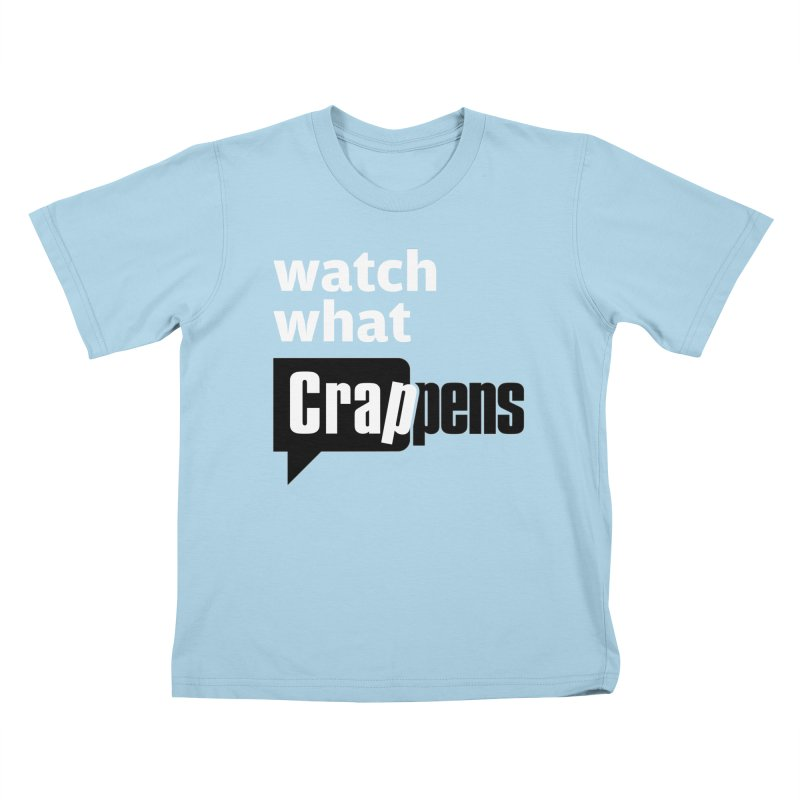 Shirts and Clothes in Kids T-Shirt Powder Blue by Watch What Crappens