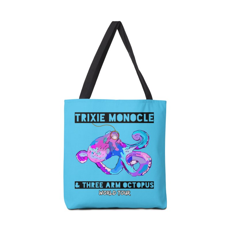 Trixie Monocle and Three Arm Octopus World Tour! Accessories Tote Bag Bag by Watch What Crappens