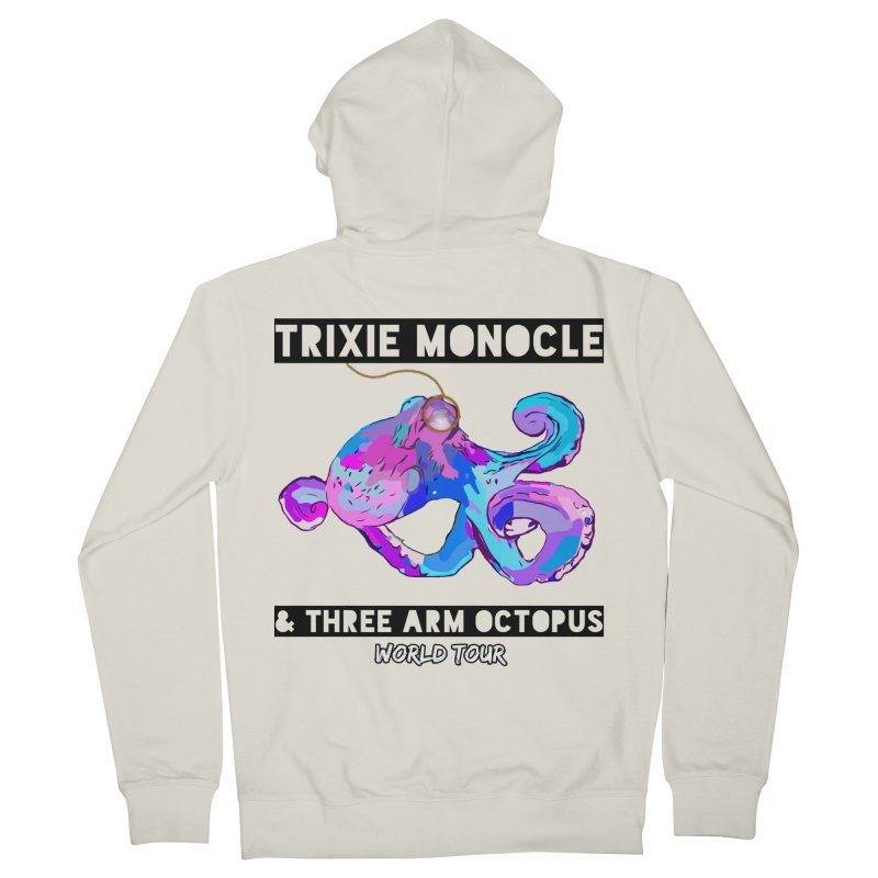 Trixie Monocle and Three Arm Octopus World Tour! Women's French Terry Zip-Up Hoody by Watch What Crappens