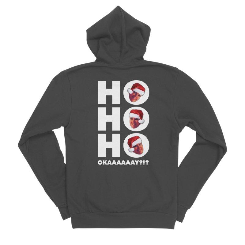 Ho Ho Ho Okaaay? Limited Men's Sponge Fleece Zip-Up Hoody by Watch What Crappens