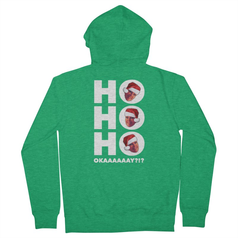 Ho Ho Ho Okaaay? Limited Men's French Terry Zip-Up Hoody by Watch What Crappens