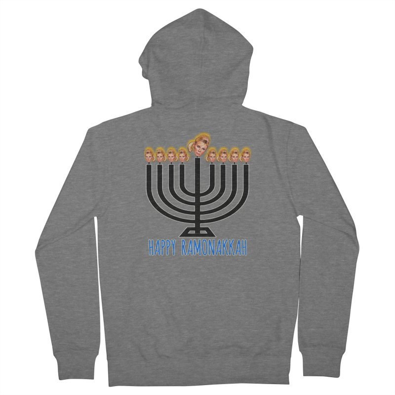 Happy Ramonakkah Limited Women's French Terry Zip-Up Hoody by Watch What Crappens