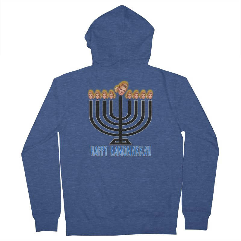 Happy Ramonakkah Limited Men's French Terry Zip-Up Hoody by Watch What Crappens