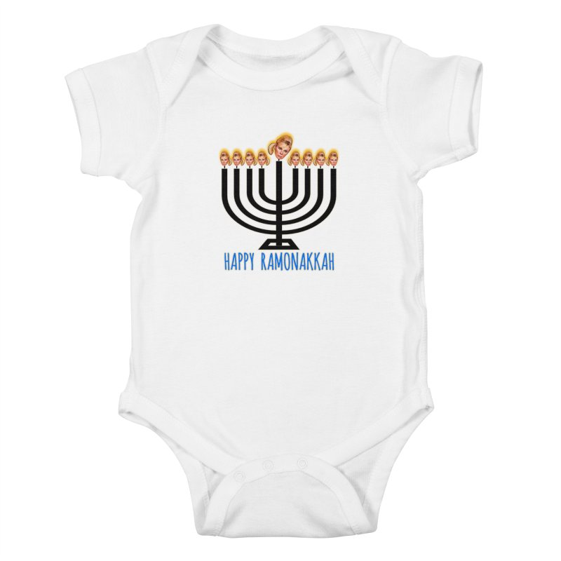 Happy Ramonakkah Limited Kids Baby Bodysuit by Watch What Crappens