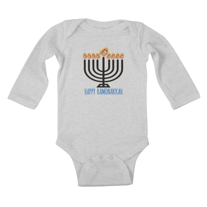 Happy Ramonakkah Limited Kids Baby Longsleeve Bodysuit by Watch What Crappens