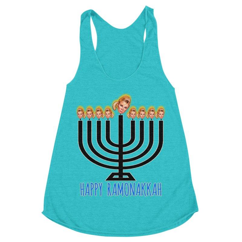 Happy Ramonakkah Limited Women's Racerback Triblend Tank by Watch What Crappens