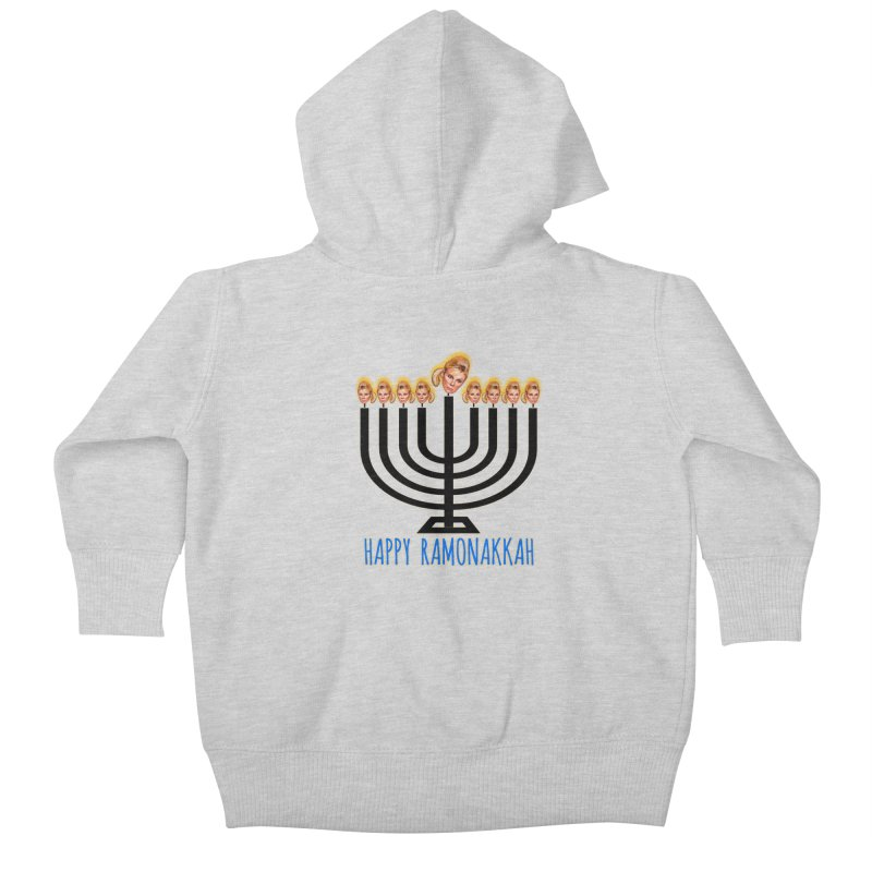 Happy Ramonakkah Limited Kids Baby Zip-Up Hoody by Watch What Crappens