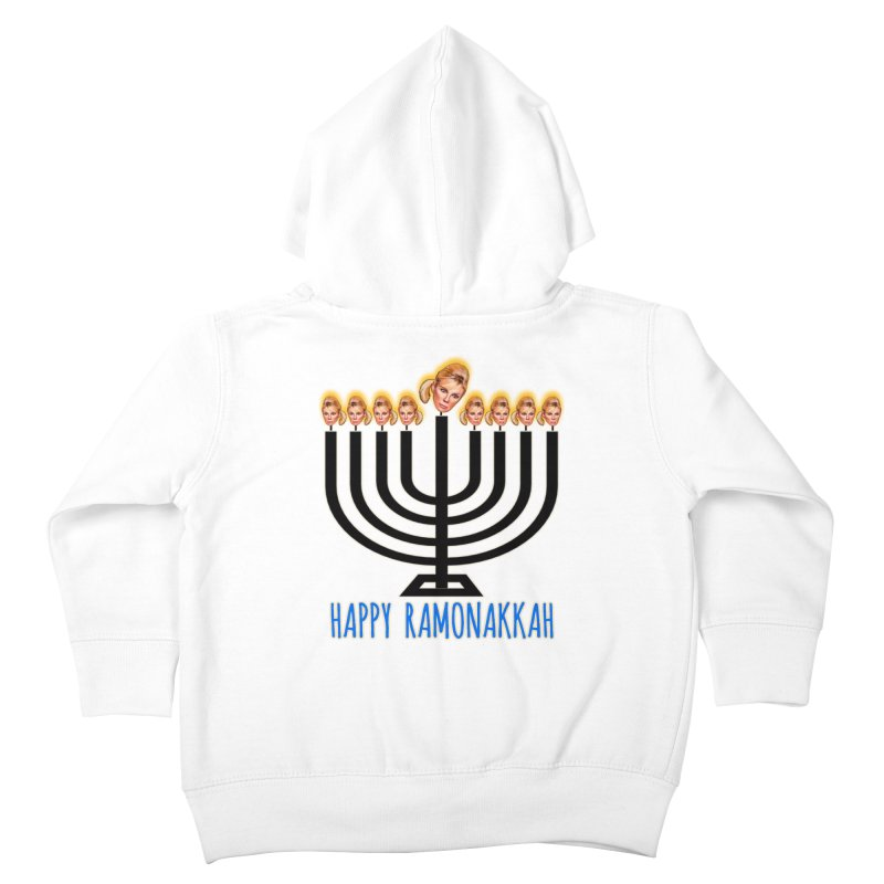 Happy Ramonakkah Limited Kids Toddler Zip-Up Hoody by Watch What Crappens