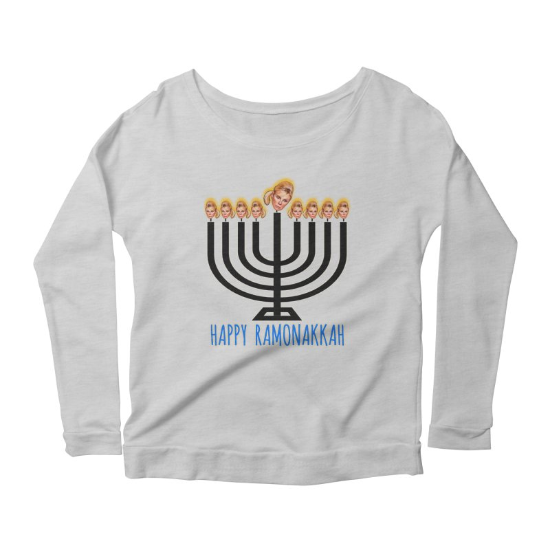 Happy Ramonakkah Limited Women's Scoop Neck Longsleeve T-Shirt by Watch What Crappens