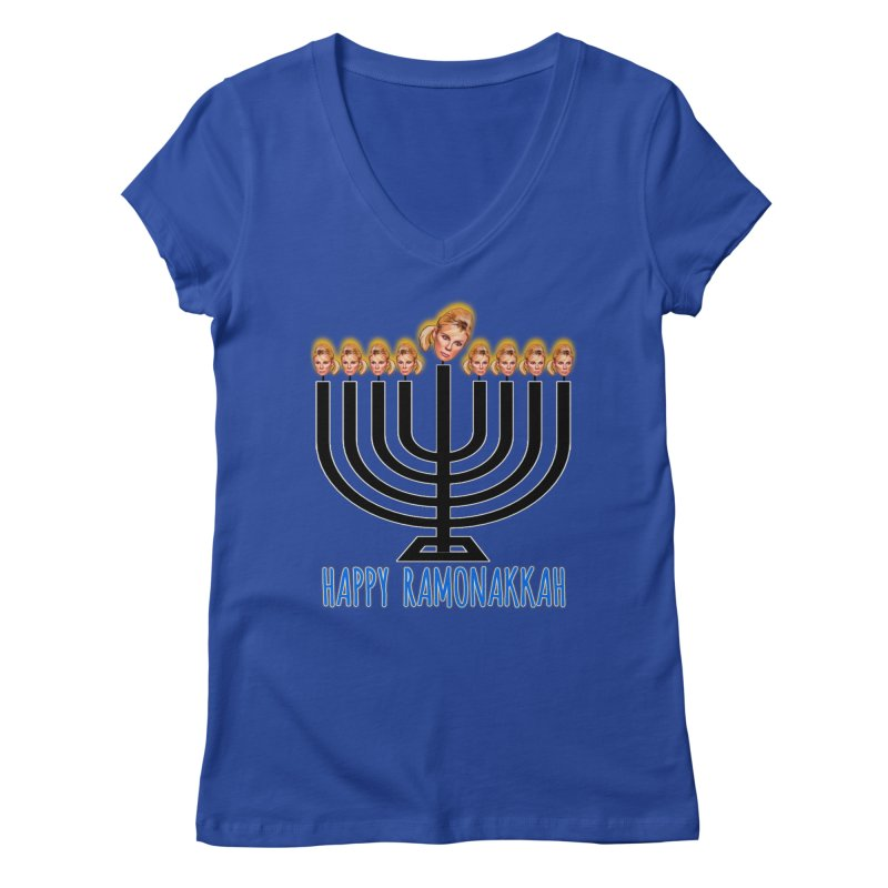 Happy Ramonakkah Limited Women's Regular V-Neck by Watch What Crappens