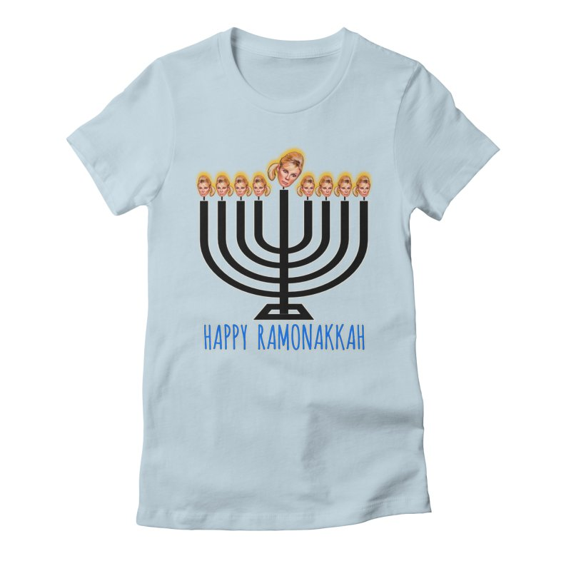 Happy Ramonakkah Limited Women's Fitted T-Shirt by Watch What Crappens