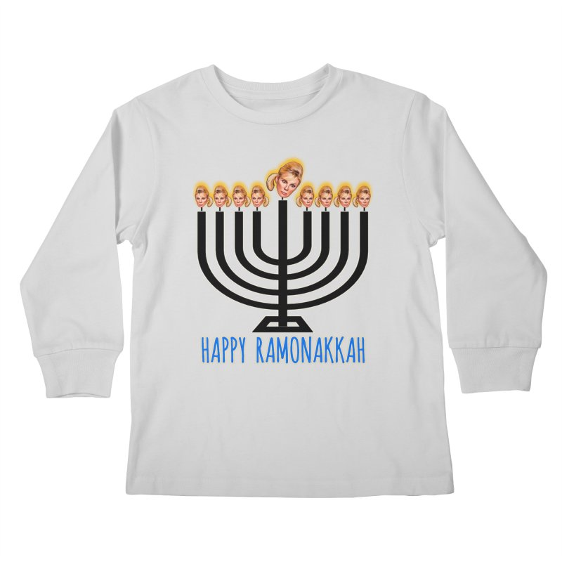 Happy Ramonakkah Limited Kids Longsleeve T-Shirt by Watch What Crappens