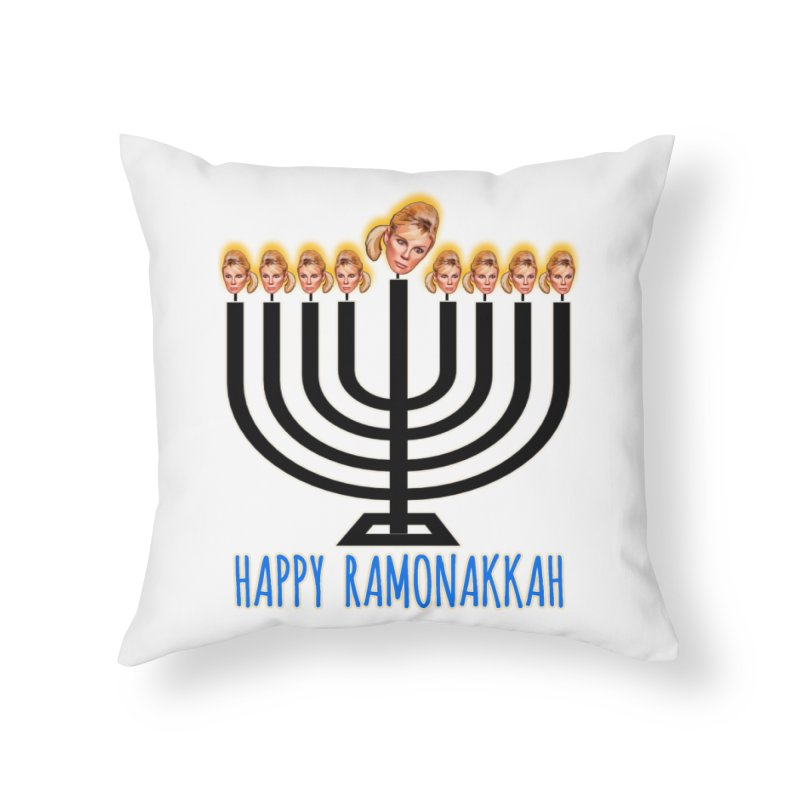 Happy Ramonakkah Limited Home Throw Pillow by Watch What Crappens
