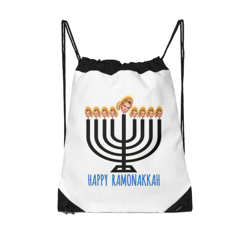 Happy Ramonakkah Limited Accessories Drawstring Bag Bag by Watch What Crappens