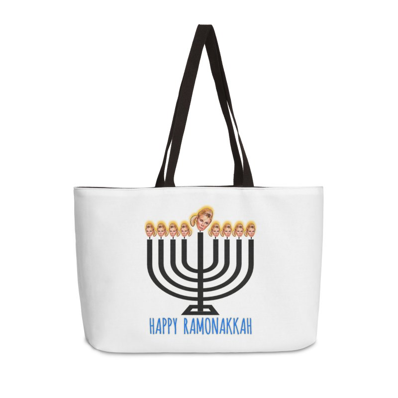 Happy Ramonakkah Limited Accessories Weekender Bag Bag by Watch What Crappens