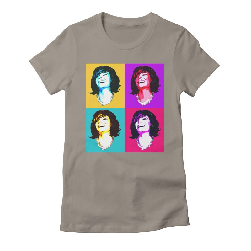 Luann Pop Art Women's Fitted T-Shirt by Watch What Crappens