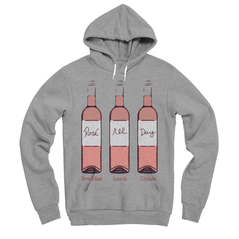 Rosé All Day Limited Men's Sponge Fleece Pullover Hoody by Watch What Crappens
