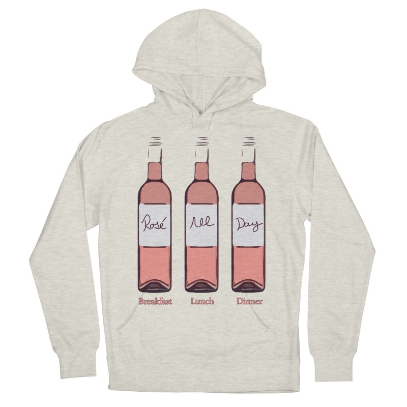 Rosé All Day Limited Men's French Terry Pullover Hoody by Watch What Crappens