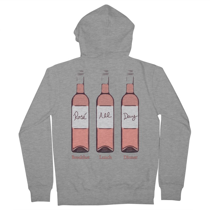 Rosé All Day Limited Women's French Terry Zip-Up Hoody by Watch What Crappens