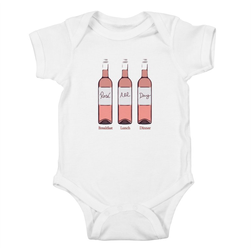 Rosé All Day Limited Kids Baby Bodysuit by Watch What Crappens