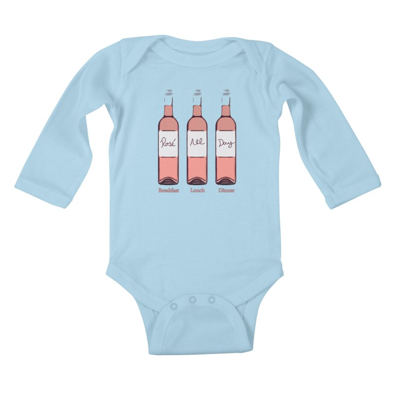Rosé All Day Limited Kids Baby Longsleeve Bodysuit by Watch What Crappens