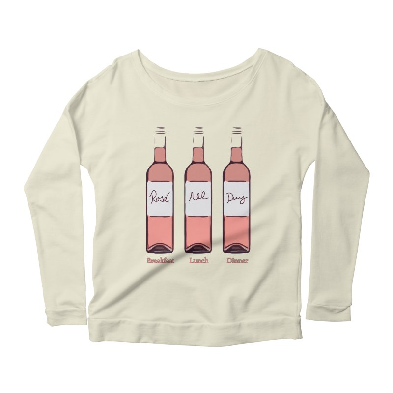 Rosé All Day Limited Women's Scoop Neck Longsleeve T-Shirt by Watch What Crappens
