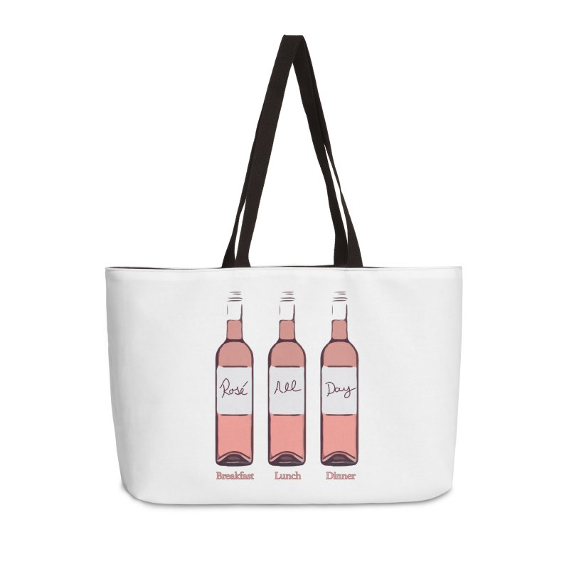 Rosé All Day Limited Accessories Weekender Bag Bag by Watch What Crappens