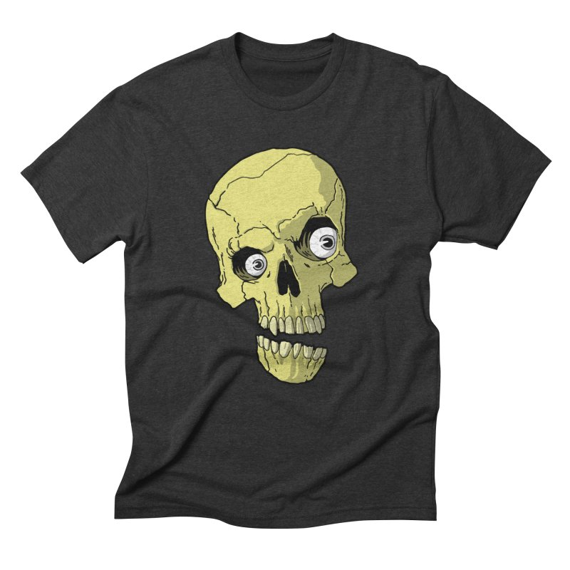 crazyskull No.1 Men's Triblend T-Shirt by crazy3dman's Artist Shop