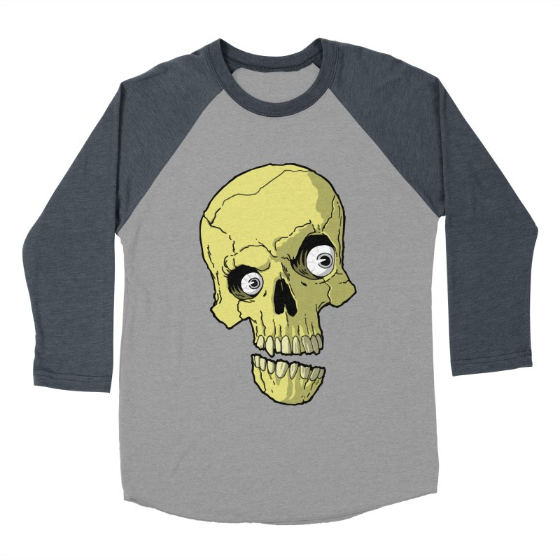 crazyskull No.1 Women's Baseball Triblend T-Shirt by crazy3dman's Artist Shop