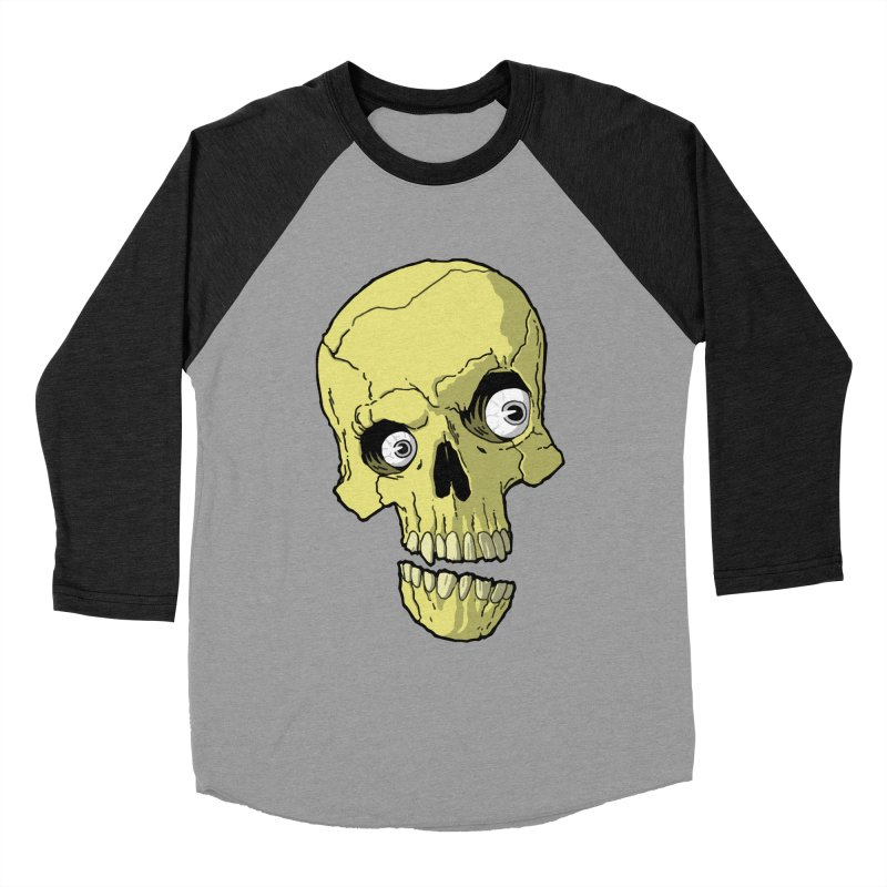 crazyskull No.1 Men's Baseball Triblend T-Shirt by crazy3dman's Artist Shop