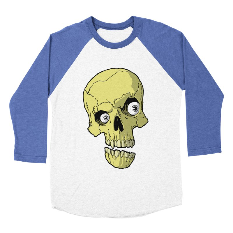 crazyskull No.1 Men's Baseball Triblend T-Shirt by crazy3dman's Artist Shop
