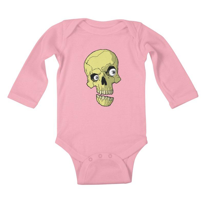 crazyskull No.1 Kids Baby Longsleeve Bodysuit by crazy3dman's Artist Shop