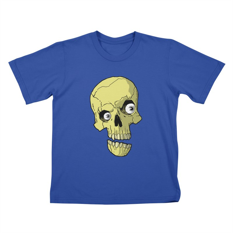 crazyskull No.1 Kids T-Shirt by crazy3dman's Artist Shop