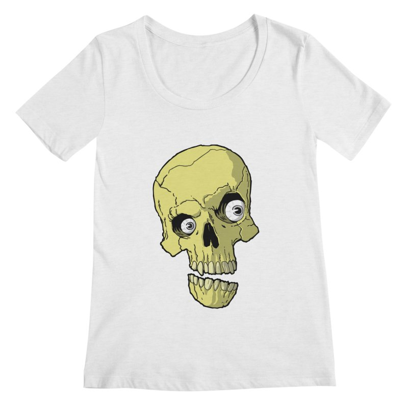 crazyskull No.1 Women's Scoopneck by crazy3dman's Artist Shop