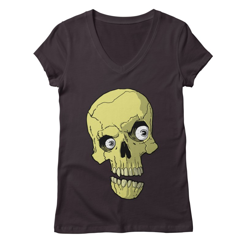 crazyskull No.1 Women's V-Neck by crazy3dman's Artist Shop