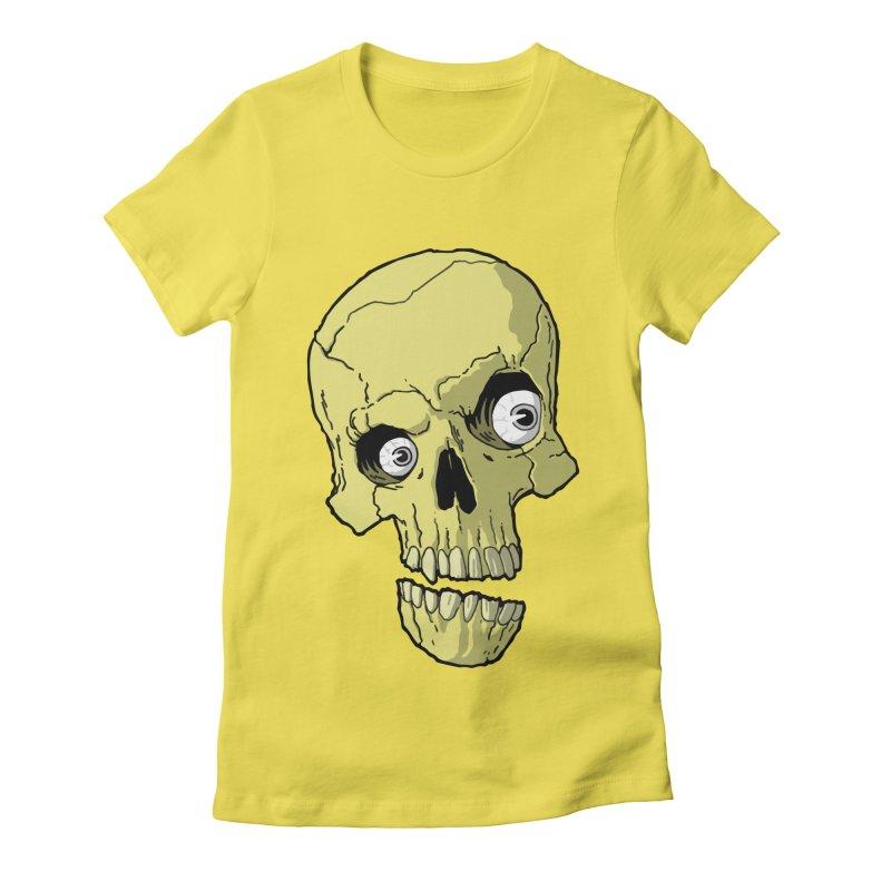 crazyskull No.1 Women's Fitted T-Shirt by crazy3dman's Artist Shop