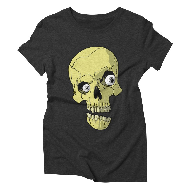 crazyskull No.1 Women's Triblend T-shirt by crazy3dman's Artist Shop