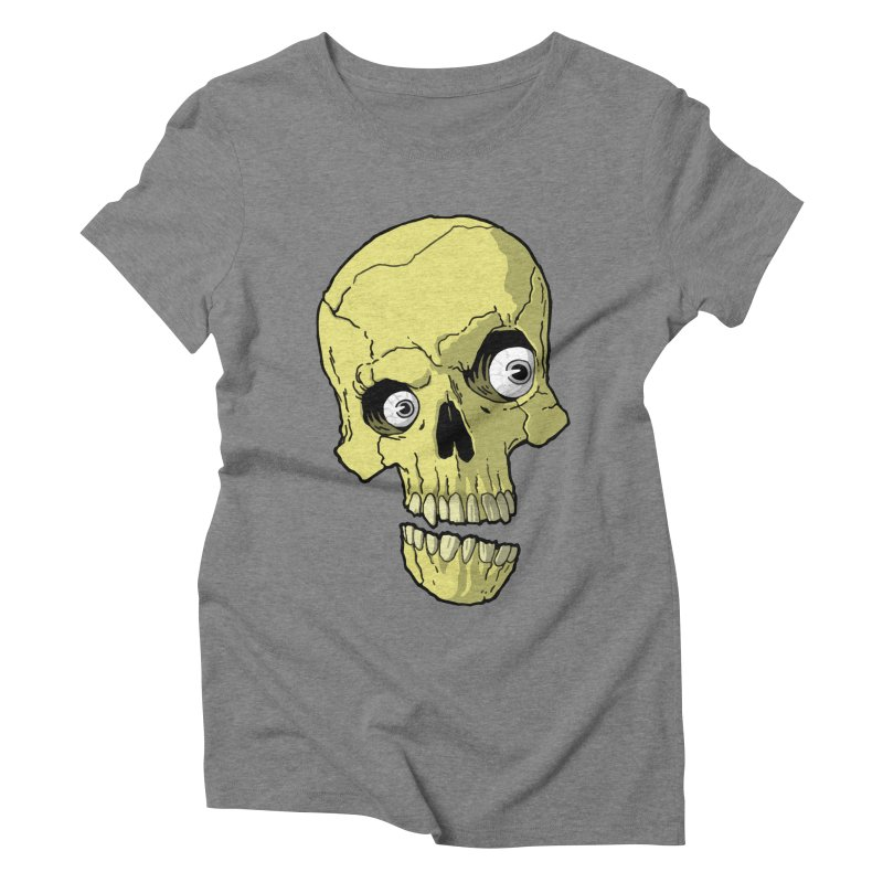 crazyskull No.1 Women's Triblend T-shirt by crazy3dman's Artist Shop