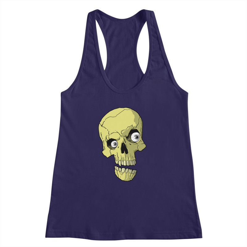 crazyskull No.1 Women's Racerback Tank by crazy3dman's Artist Shop