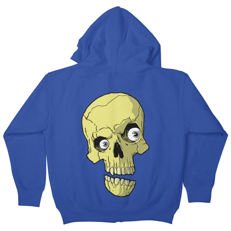 crazyskull No.1 Kids Zip-Up Hoody by crazy3dman's Artist Shop