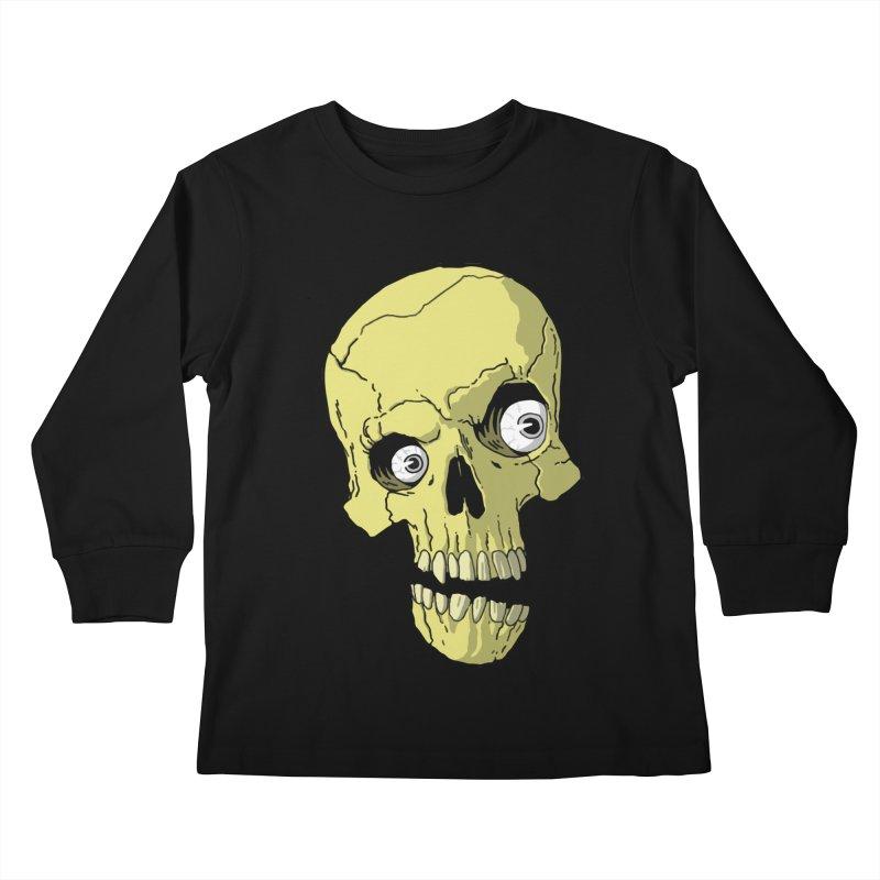 crazyskull No.1 Kids Longsleeve T-Shirt by crazy3dman's Artist Shop