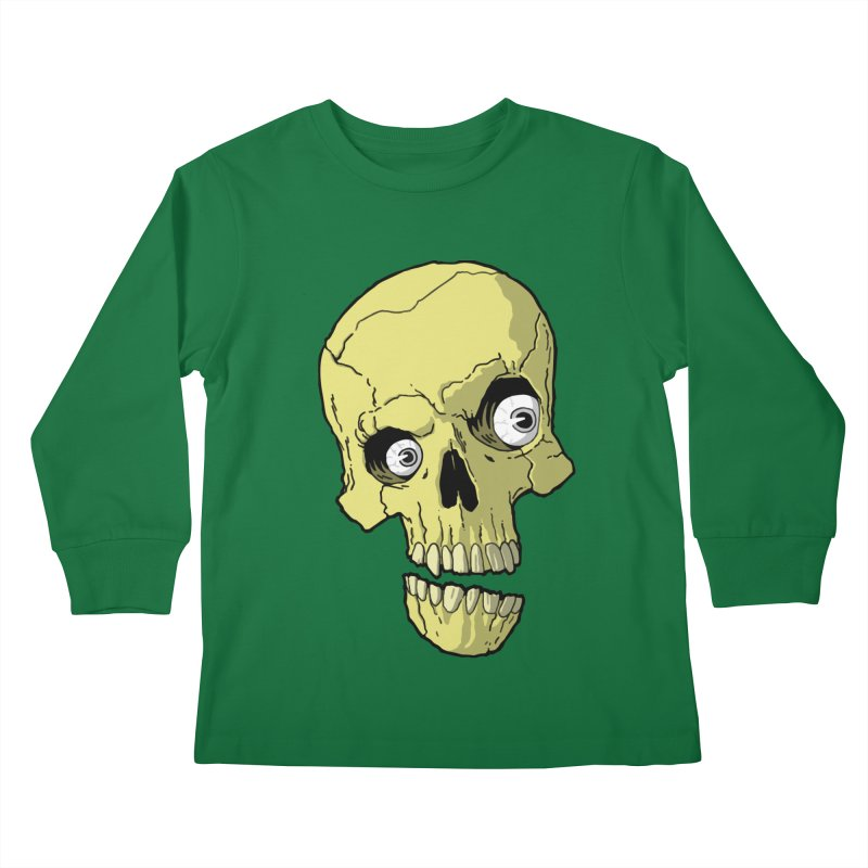crazyskull No.1 Kids Longsleeve T-Shirt by crazy3dman's Artist Shop
