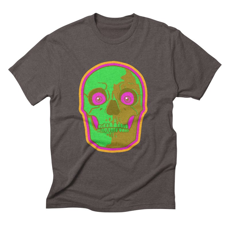 crazyskull No.2 Men's Triblend T-Shirt by crazy3dman's Artist Shop