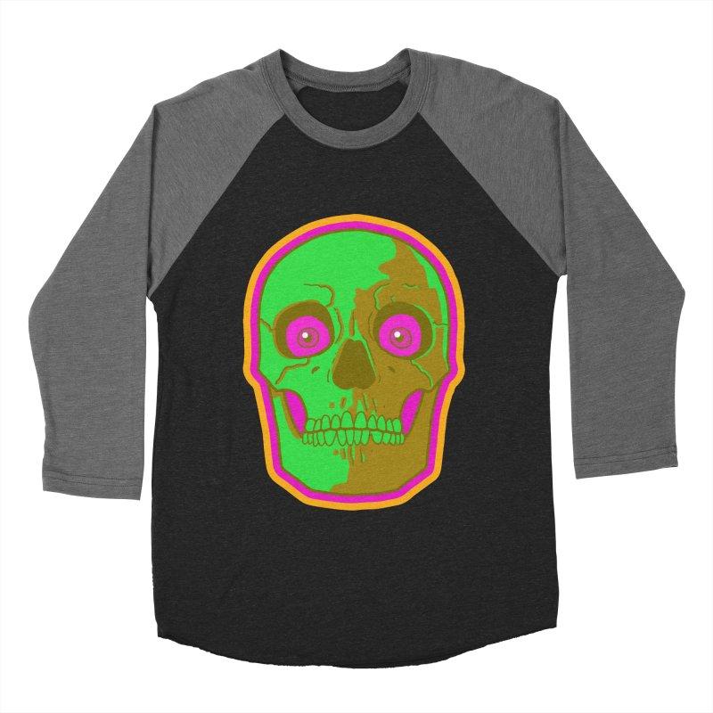 crazyskull No.2 Women's Baseball Triblend T-Shirt by crazy3dman's Artist Shop