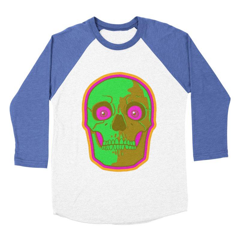 crazyskull No.2 Men's Baseball Triblend T-Shirt by crazy3dman's Artist Shop